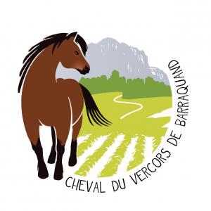 Logo Cheval du Vercors - Rond transparent